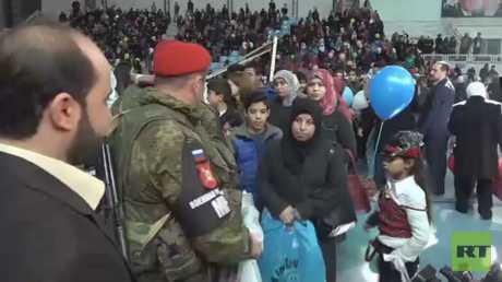 مساعدات من إنغوشيا لأطفال سوريين