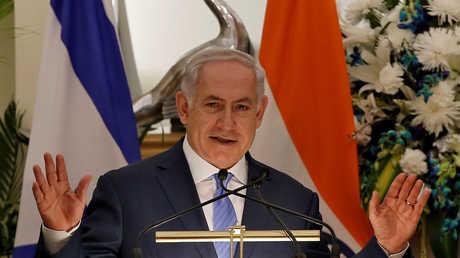 رئيس الوزراء الإسرائيلي بنيامين نتنياهو أثناء زيارته إلى الهند