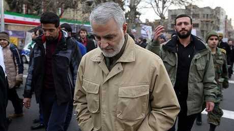 قاسم سليماني قائد فيلق القدس في الحرس الثوري الإيراني - أرشيف