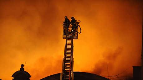 حريق في براغ