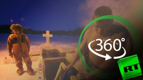 طقوس الروس في عيد الغطاس بتقنية 360