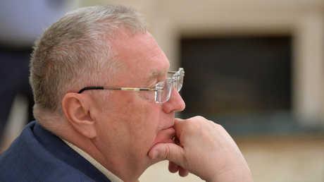 فلاديمير جيرينوفسكي، زعيم الحزب الليبرالي الديمقراطي الروسي والمرشح لانتخابات الرئاسة الروسية