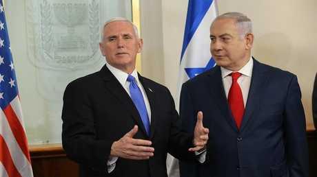 نائب الرئيس الأمريكي خلال زيارته لإسرائيل