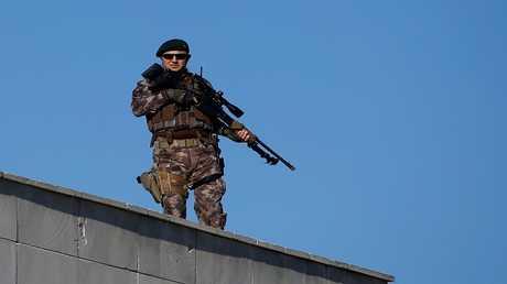 عنصر من القوات الخاصة بالشرطة التركية