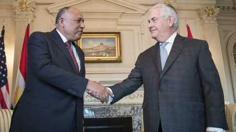 وزير الخارجية المصري سامح شكري ونظيره الأمريكي ريكس تيلرسون