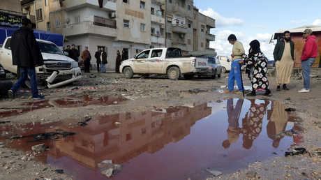 موقع التفجير المزدوج في بنغازي