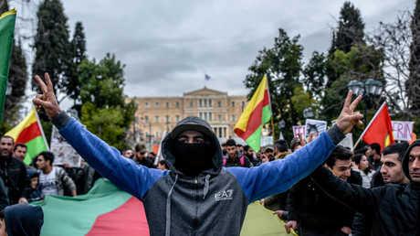 تظاهرات مؤيدة للأكراد في أثينا - 23/01/18
