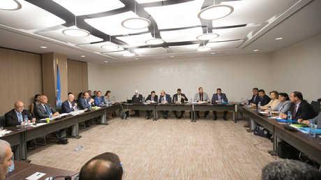 ستيفان دي ميستورا يعقد اجتماعا مع وفد المعارضة السورية في جنيف - صورة أرشيفية