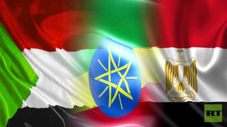 أعلام مصر إثيوبيا والسودان
