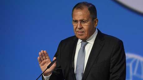 وزير الخارجية الروسي، سيرغي لافروف في مؤتمر الحوار الوطني السوري بسوتشي