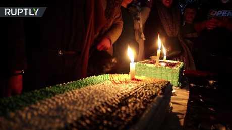 احتفالات بعيد ميلاد عهد التميمي في الخليل