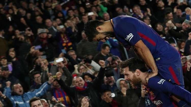 بالفيديو.. سحر ميسي وبراعة سواريز يصنعان هدف الفوز لبرشلونة أمام الخفافيش