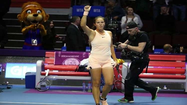 الروسية كاساتكينا تفجر مفاجأة بإقصائها فوزنياكي من بطولة بطرسبورغ
