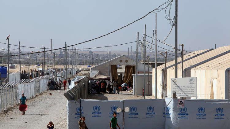 أحد مخيمات النازحين قرب الموصل