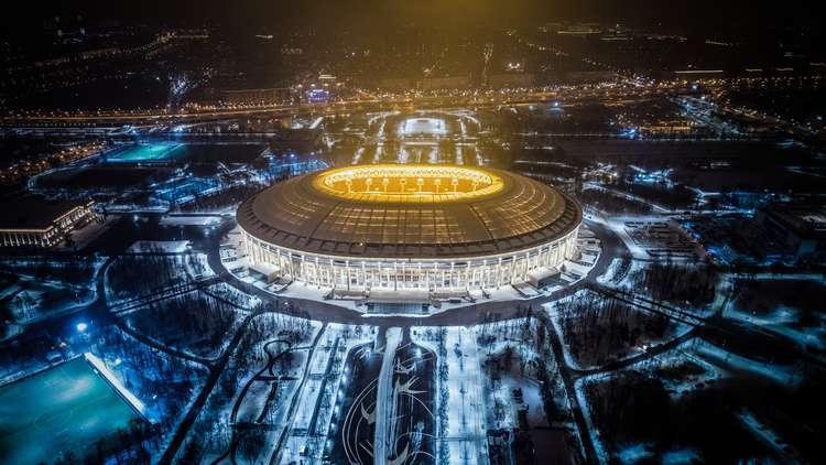 """مونديال روسيا 2018.. ملعب لوجنيكي يتلقى الشهادة """"الخضراء"""""""