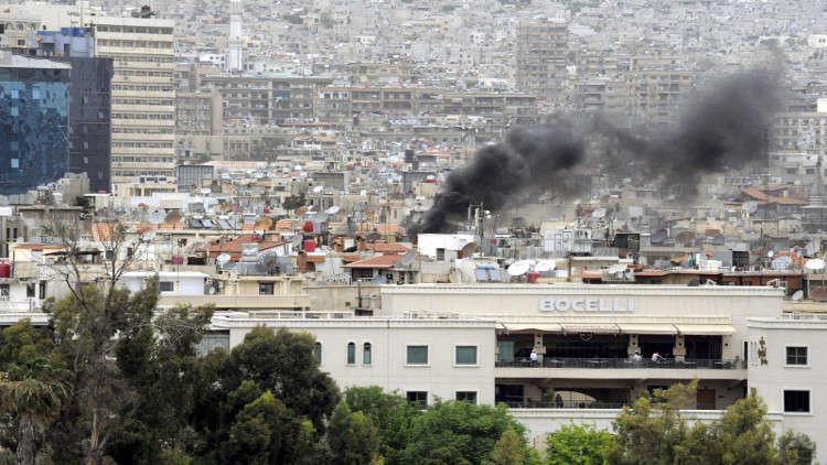 قصف على العاصمة السورية دمشق