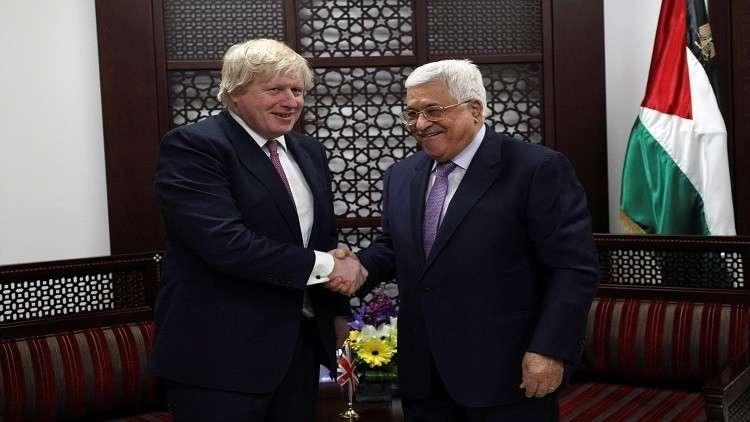 عباس وجونسون يبحثان هاتفيا القضية الفلسطينية