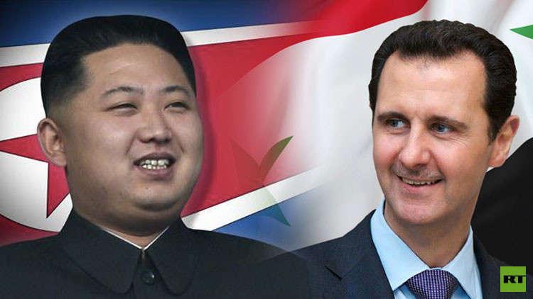الرئيس الأسد يهنئ كيم جونغ أون