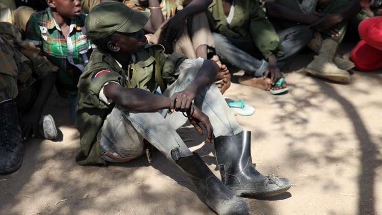 تحرير 300 من الأطفال المجندين في جنوب السودان