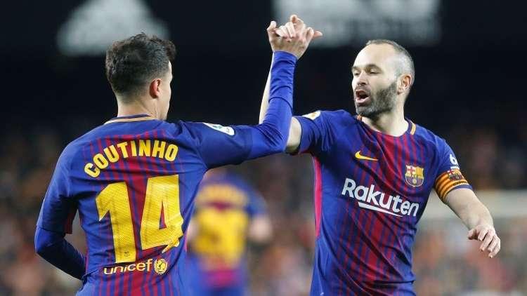 توثيق لحظة تاريخية بالفيديو.. باكورة أهداف كوتينيو مع برشلونة