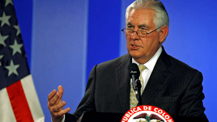 واشنطن: تيلرسون سيجري محادثات صعبة في تركيا حول
