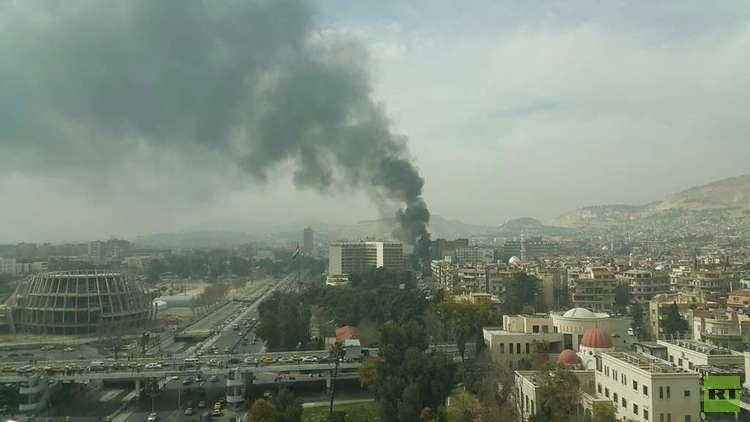 سقوط صواريخ أطلقها مسلحون من الغوطة الشرقية بمحيط فندق