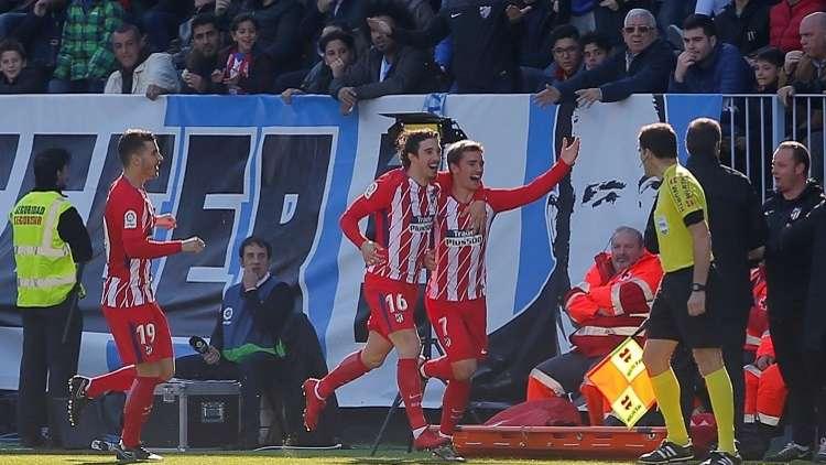 أتلتيكو مدريد يسقط ملقا بهدف غريزمان (فيديو)