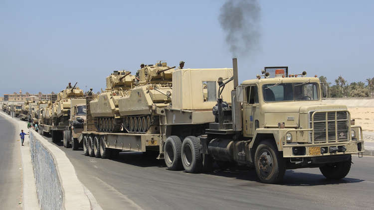 أسلحة الجيش المصري في عملية