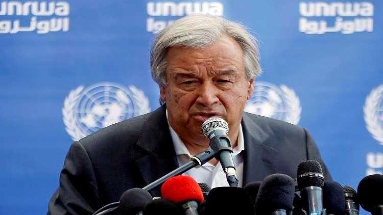أمين عام الأمم المتحدة يدعو إلى وقف فوري للتصعيد في سوريا