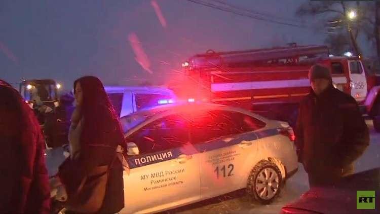 مصرع 71 شخصا في تحطم طائرة ركاب روسية في مقاطعة موسكو