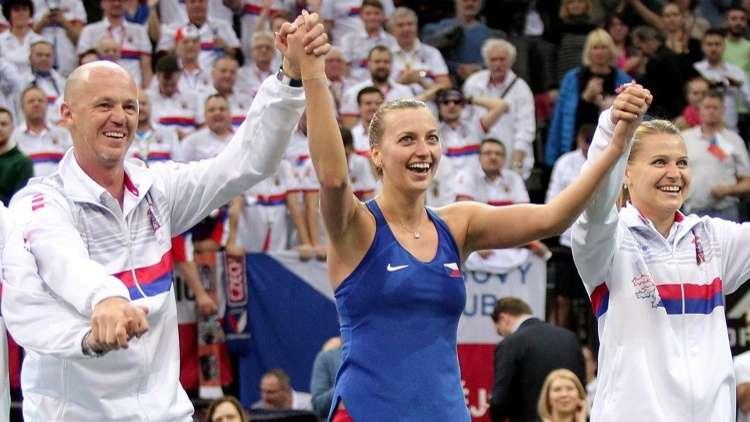 كفيتوفا تقود التشيك إلى المربع الذهبي لكأس الاتحاد للتنس