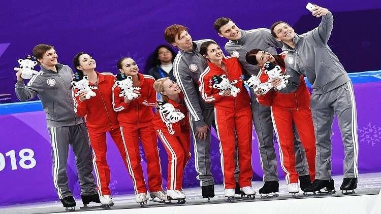 الرياضيون الروس يتوّجون بفضية المنتخبات للتزحلق الفني على الجليد في الأولمبياد