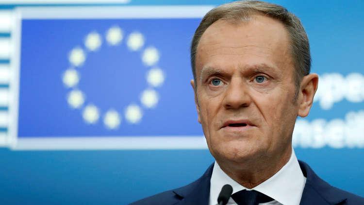 توسك بعد محادثاته مع رئيس قبرص يدعو تركيا إلى الامتناع عن تهديد أي عضو في الاتحاد الأوروبي