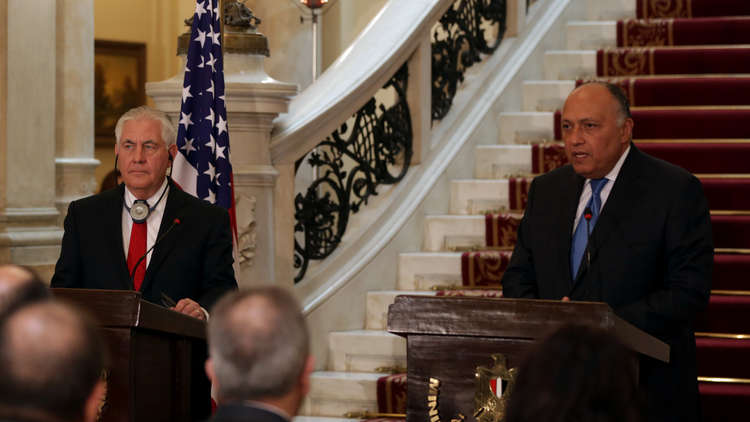 تيلرسون يدعو إلى انتخابات رئاسية شفافة في مصر