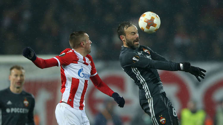 النجم الأحمر يتعادل سلبيا أمام تسيسكا موسكو في الدوري الأوروبي