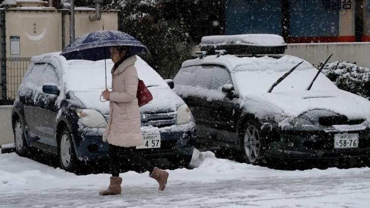 مصرع 15 شخصا جراء تساقط الثلوج في اليابان