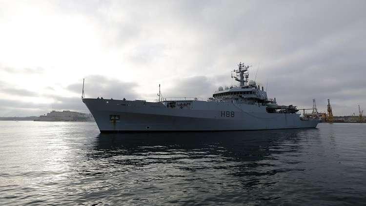 اقتراب خطير لسفينتين حربيتين بريطانية وروسية في البحر الأسود