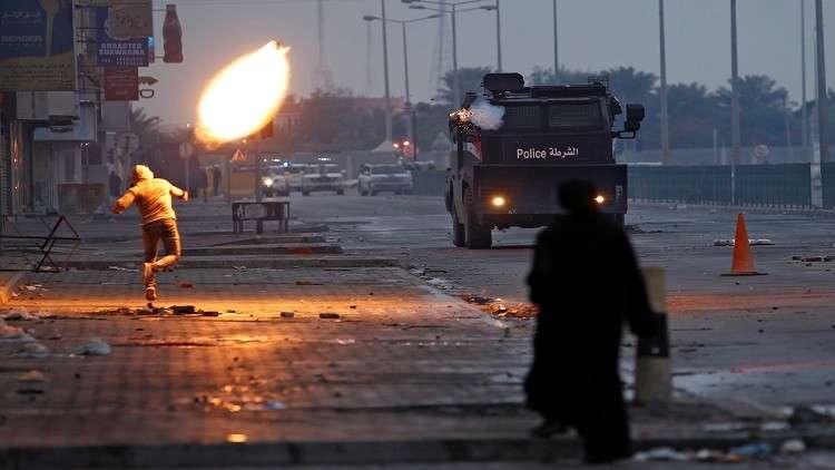 شرطة البحرين تفرق المتظاهرين بالغاز المسيل للدموع