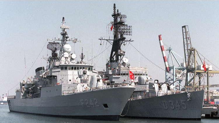 السفن الحربية التركية تعطل استثمار الغاز في المتوسط