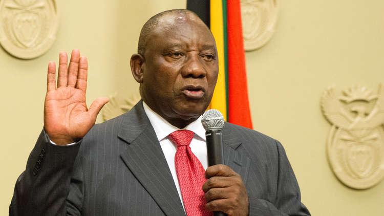 رامافوسا يؤدي اليمين الدستورية رئيسا لجنوب أفريقيا