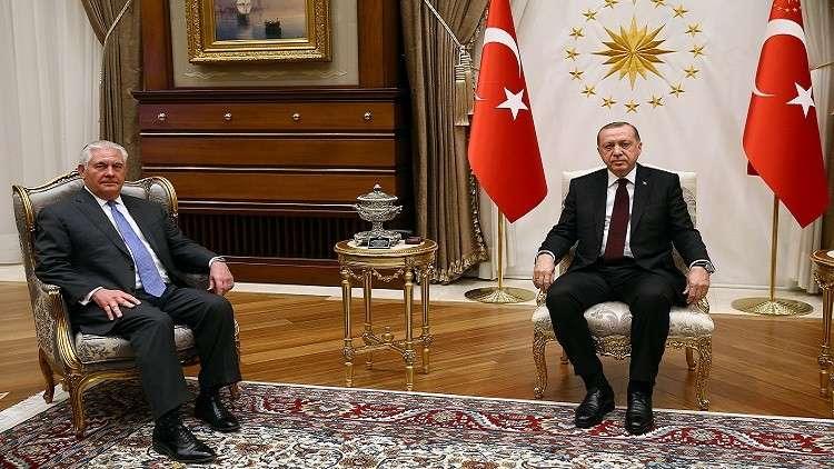 حوار صريح بين أردوغان وتيلرسون حول سوريا والعراق والإرهاب