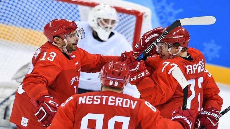 منتخب روسيا لهوكي الجليد يسحق نظيره السلوفيني في الأولمبياد