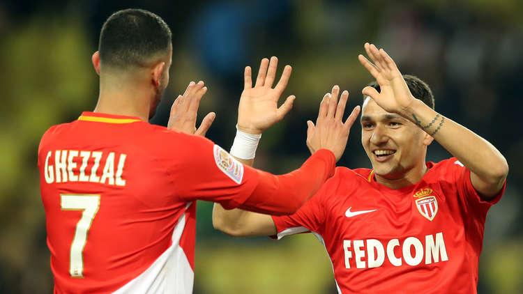 موناكو يكتسح ديغون في الدوري الفرنسي