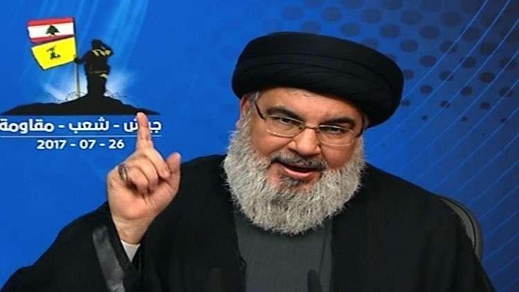 نصر الله يحذر إسرائيل من الاقتراب من مكامن النفط والغاز