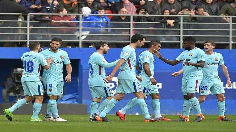 برشلونة يحلق بعيدا في صدارة الليغا