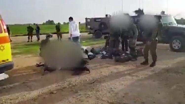 شاهد بالفيديو تفجير القوة الإسرائيلية في قطاع غزة - عملية إخلاء الجنود