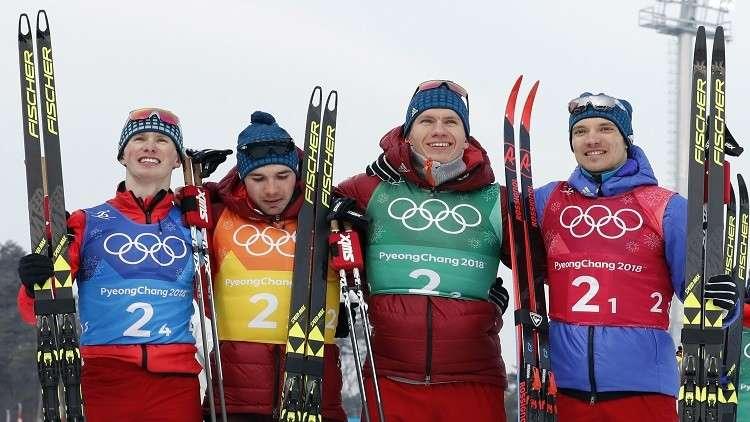 الروس يضيفون فضية سباق التتابع 4×10 كم لرصيد بلادهم