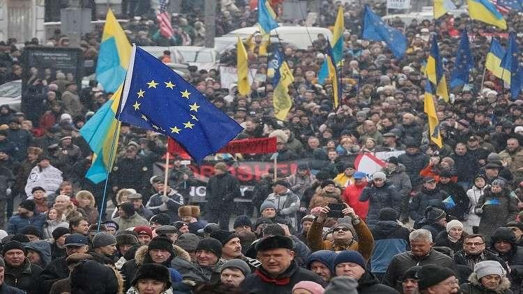 مظاهرات حاشدة في كييف دعما لسآكاشفيلي