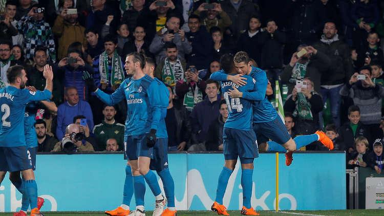 ريال مدريد ينتصر بصعوبة على بيتيس