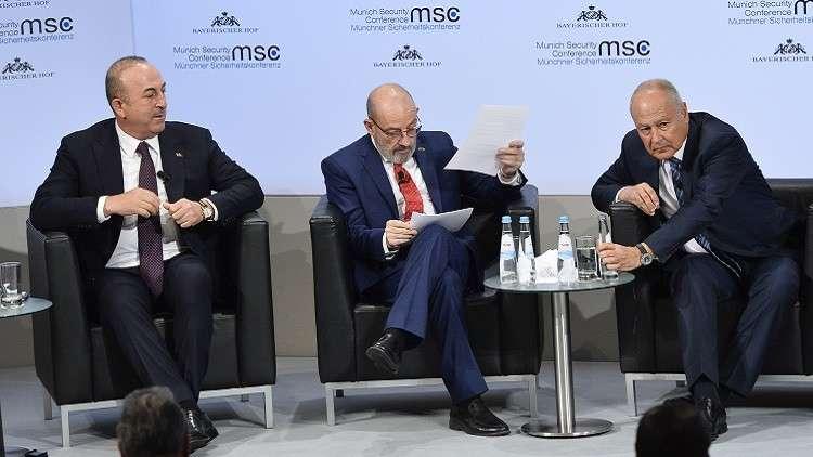 الجامعة العربية تنتقد ردّ أوغلو على أبو الغيط في ميونيخ